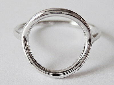 Sovats 925 Sterling Silver Love & Heart Eternal Round Circle Love Ring Size 5-12