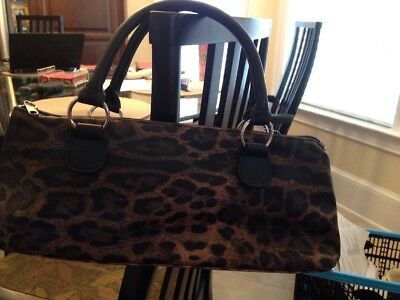 New WITHOUT Tag Insulated Wine Bottle Bag Cooler Purse Cougar Leopard Print