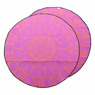 RECYCLED Plastic Outdoor Rug | Eucalyptus Design 3m Round Mat