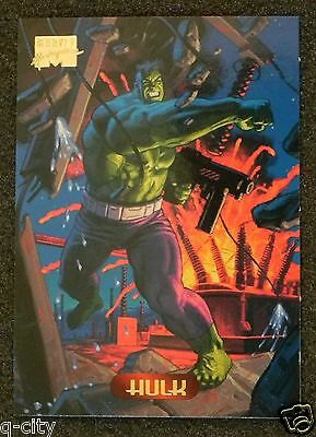 HULK Promo Card from 1994 Marvel Masterpieces _ Low Mailing Cost _MAIL WORLDWIDE