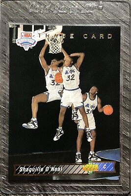 1992 93 Upper Deck 1b Shaquille Oneal Rookie Rc Magic Trade Card Free Shipping