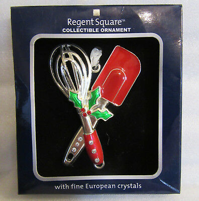 Regent Square ~ Baker Cook Spatula Mixer Utensils ~ Crystals Ornament