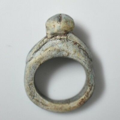 Rare Ancient Egyptian Egypt antique STONE RING scarab D 600 BC