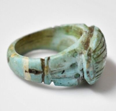 Rare Ancient Egyptian Egypt antique STONE RING SCARAB G 600 BC