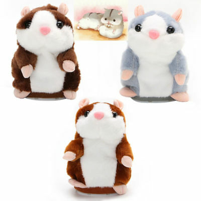 Cute Talking Hamster Mimicry Pet Plush Toy Kids Speak Sound Record Toy Xmas Gift