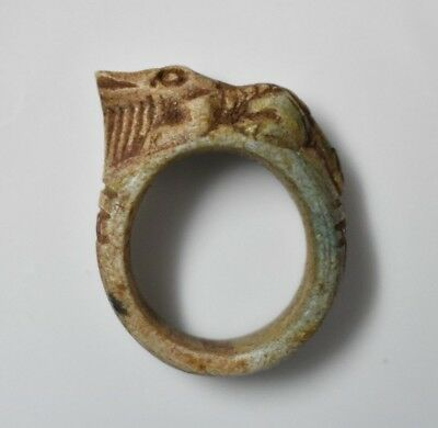Rare Ancient Egyptian Egypt antique STONE RING  SOBEK J 600 BC