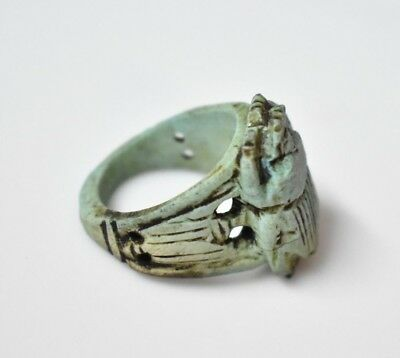 Rare Ancient Egyptian Egypt antique STONE RING SCARAB L 600 BC