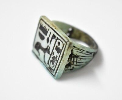 Rare Ancient Egyptian Egypt antique STONE RING  M 600 BC