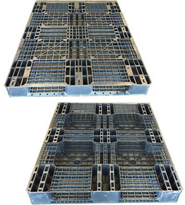 48x40 STACKABLE/RACKABLE PLASTIC PALLETS DELIVERY AVAILABLE