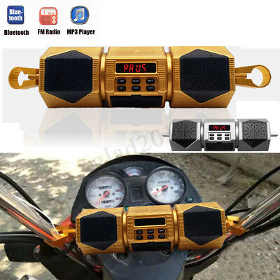 Bluetooth Motorcycle Audio Stereo Speaker System MP3 FM Waterproof Amplifier