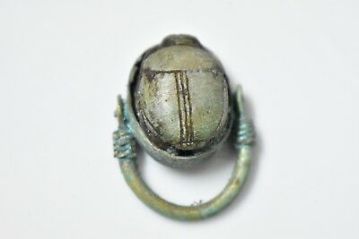 Ancient Egyptian Egypt antique Copper RING with Scarab  e 600 BC