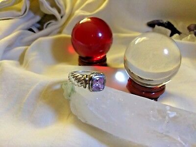 STUNNING BRONWYN ANGEL STERLING SILVER RING Wicca WITCH AmULet MAGIC PARA META