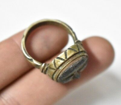 ANCIENT ROMAN Egypt Egyptian antique SILVER RING b Roman period (30-641) BC