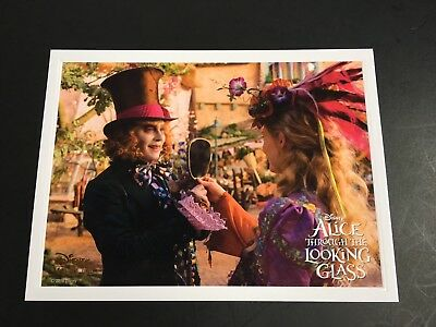 Disney Alice Through the Looking Glass lithograph collector card Movie Club