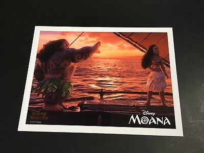 Disney Moana lithograph collector card Movie Club NOT 3D