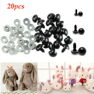 Round Black Plastic Safety Eyes For Dolls Teddy Bears 10mm 12mm 14mm 16mm 18mm