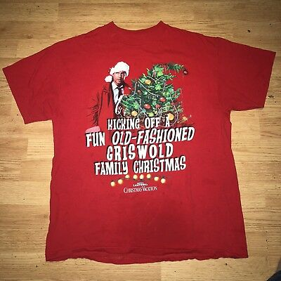 National Lampoons Christmas Vacation TShirt Large Clark Griswold Family