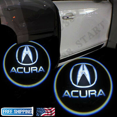 For Acura TLX RLX MDX TL ZDX LED Laser Door Logo Ghost Shadow Projector Lights