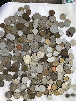 Mixed Bulk Lot Of 100+ Assorted World/Foreign Coins! Mostly 20Th Century
