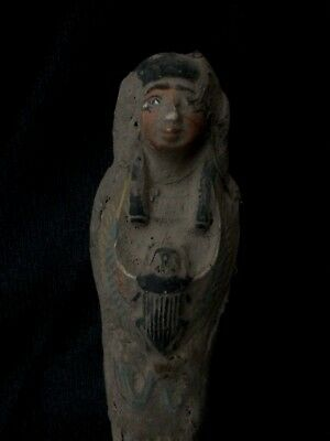 EGYPT ANTIQUES EGYPTIAN SHABTI Ushabti SCARAB Statue Old Carved STONE 1539 BC