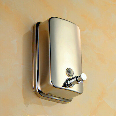 Stainless Steel Wall-mounted Soap Dispenser Manual Dispenser 500ML/800ML/1000ML