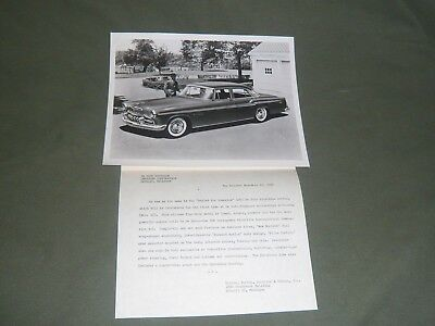 "Original Press Release & 8""x10"" Photo 1955 Chrysler DeSoto Fireflite"