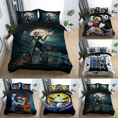 Nightmare Before Christmas Duvet Cover 3D + Pillow Cases Quilt Cover Bedding Set