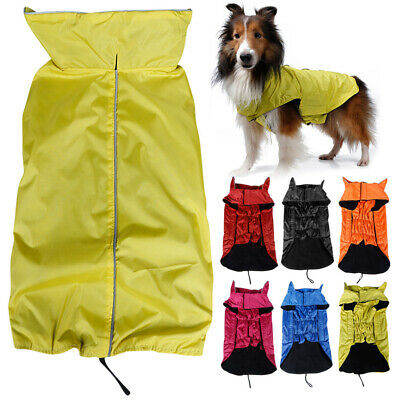 Lightweight Dog Waterproof Jacket Rain Coat Comfortable Velcro Design Costume