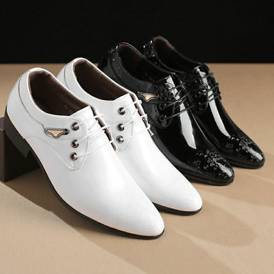 Hot Carved Lace Up Toe Leather Men's Wedding Formal Dress Business Pointy Shoes