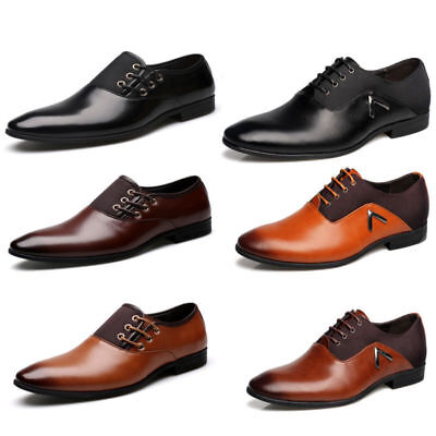 New Casual Party Lace Up Business Oxfords Dress Men's Wedding Leather Shoes