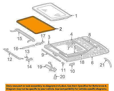 MERCEDES OEM 94-99 S320 Sunroof-Panel Seal 1407800098