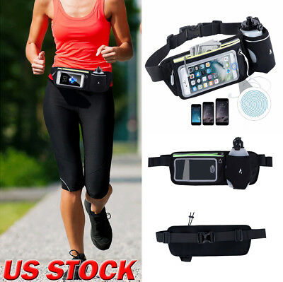 Waterproof Sport Runner Waist Bum Bag Running Jogging Belt Pouch Zip Fanny Pack