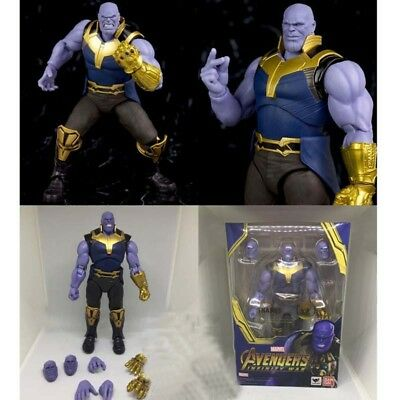 "S.H.Figuarts Marvel Avengers Infinity War Thanos Action Figure Toy 6"" Boxed PVC"