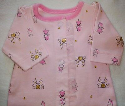 dfd2ae037 Child of mine Preemie baby girl Pink with Princess Cotton Cute! footed.