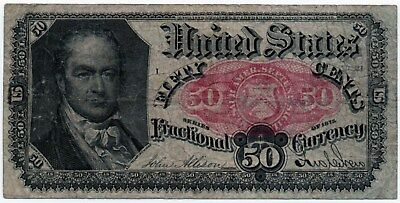 Fr 1381 - 50 Cents Fifth Issue Fractional Currency - F - Blue End - Crawford