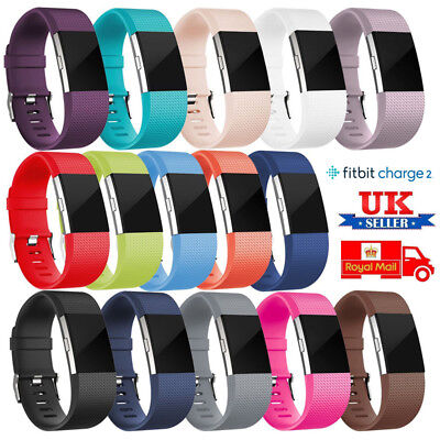 For Fitbit Charge 2 Strap Sports Wrist Band Silicone Replacement Small Large UK