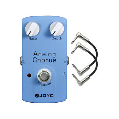 Joyo JF-37 Analog Chorus Guitar Effects Pedal with Patch Cables