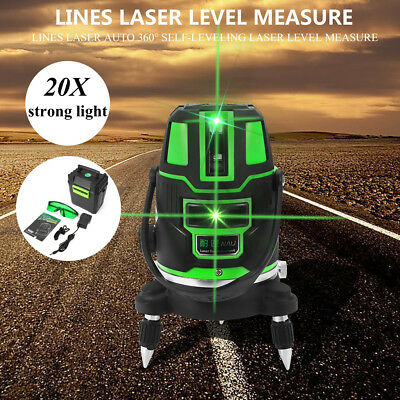 2/3/5 Lines Laser Level 360° Rotary Green Cross Line Self-Leveling Measure Tool