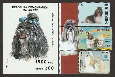 SHIH TZU ** Int'l Dog Postage Stamp Collection ** Great Gift Idea*