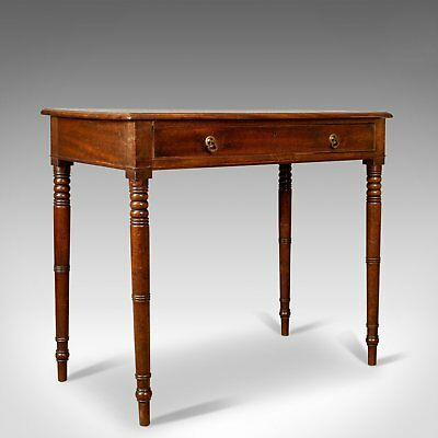 Antique Side Table, English, Georgian, Mahogany Bow Fronted Console Table c.1800