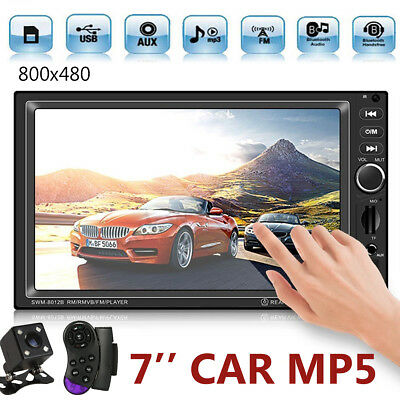 "2 DIN Single 7"" Touch Screen Car MP5 GPS Player BT Radio Camera Sat NAV Map"
