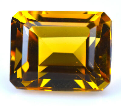 3.47ct Natural Citrine Yellow Octagon 10x8mm