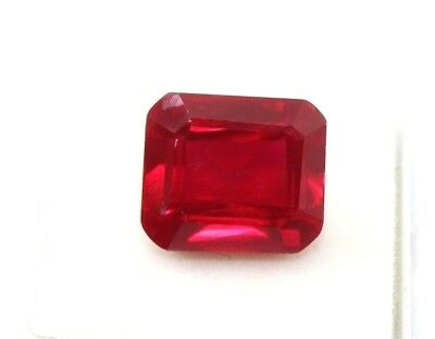 13.00 CT Natural Mozambique Blood Red Ruby Manik Emerald Cut Gems Ggl Certified
