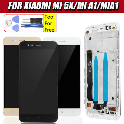 LCD Display Touch Screen Digitizer Glass w/ Frame + Tools For Xiaomi Mi 5X/Mi A1