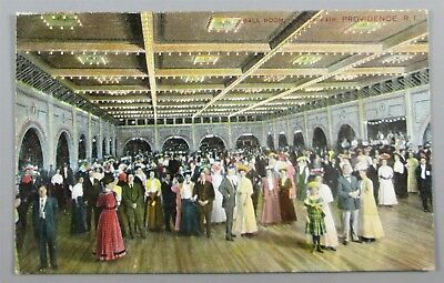 Ball Room, Vanity Fair, Providence RI 1909 Postcard (#5349)