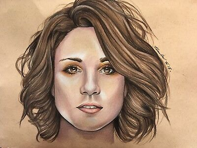 Tuppence Middleton Original Drawing. Fan-ART .