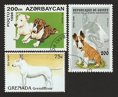 BULL TERRIER ** Int'l Dog Stamp Postage Collection ** Great Gift Idea **
