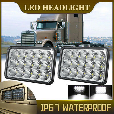 2 Pieces LED Headlights For Kenworth T400 T800 T600 W900B W900L Classic 120/132