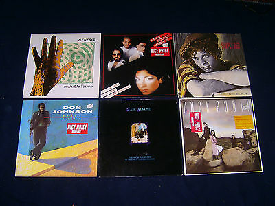 6 mal Genesis MIAMI SOUND MACHINE SIMPLY RED DON JOHNSON MARC ALMOND Vinyl LP