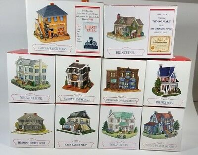 Liberty Falls Collection Lot Of 10 Buildings Houses